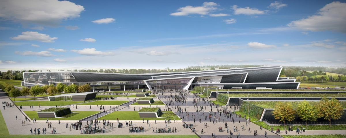 AECC CGI view looking south
