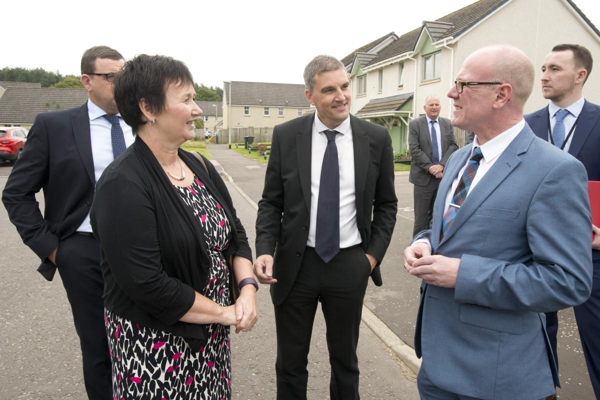 Housing Minister visit to Blackford