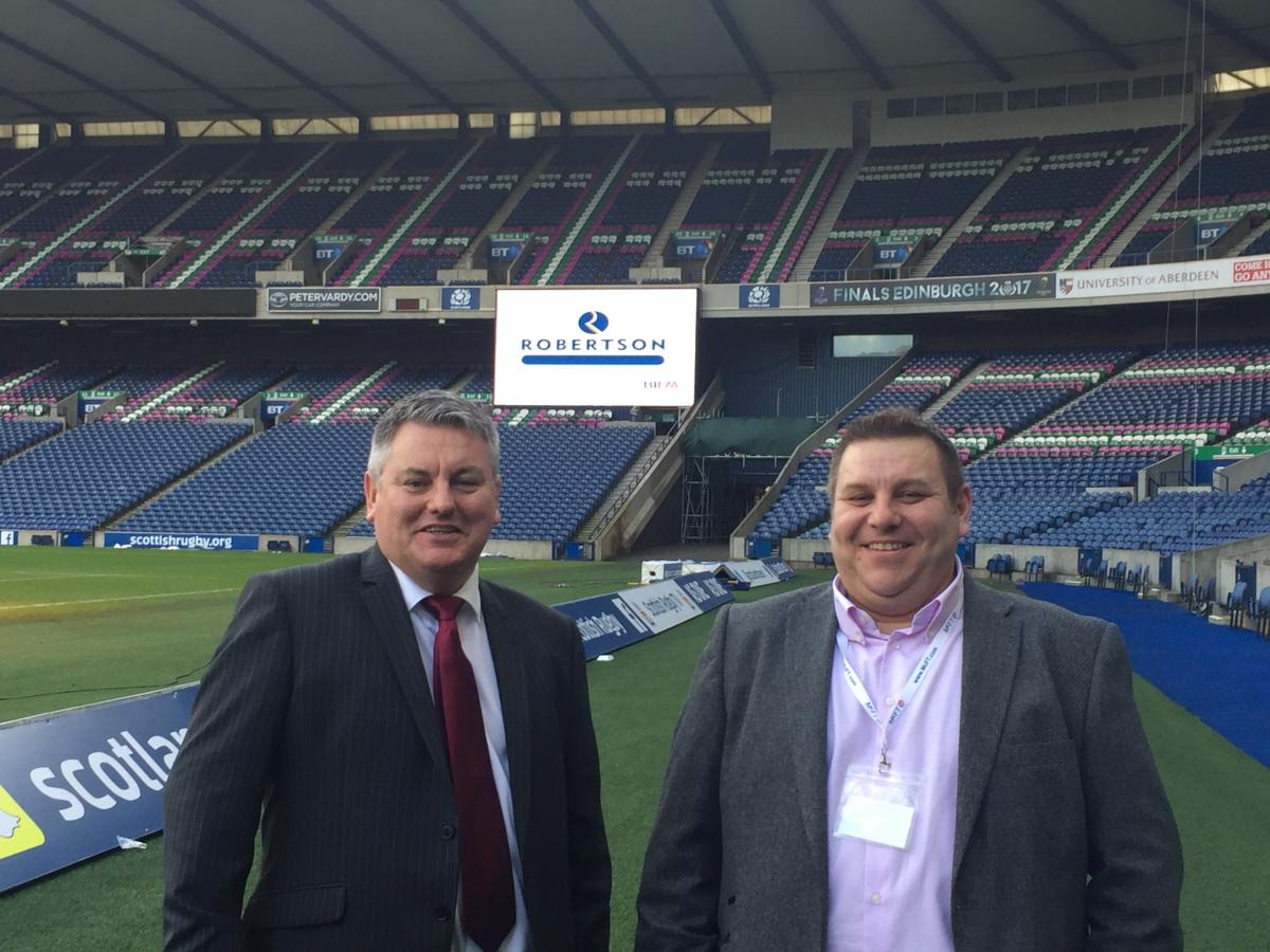 Eddie and Niall at Murrayfield