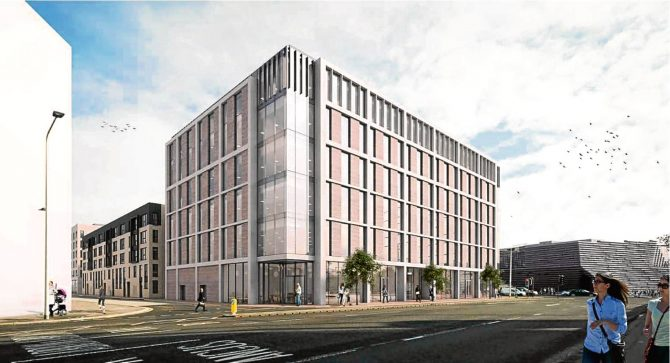 Cooper Cromer CGI Dundee waterfront mixed use development