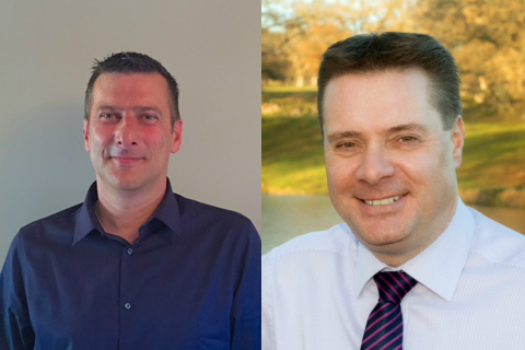 Cameron Scott and Andy Lewis Technical Sales Managers