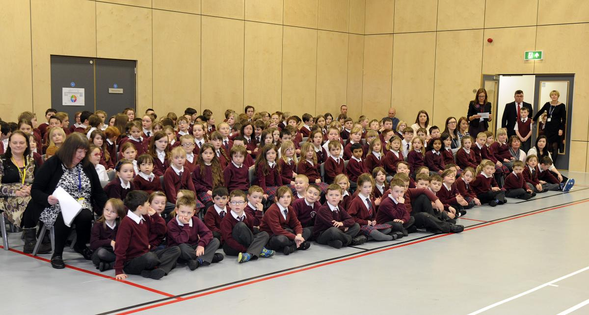Crieff Primary School assembly hall
