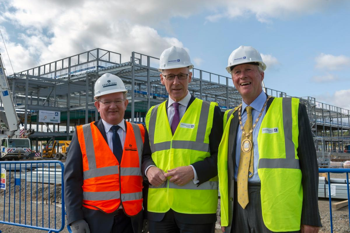 Inverurie Community Campus, Robertson Group and Aberdeenshire Council topping out
