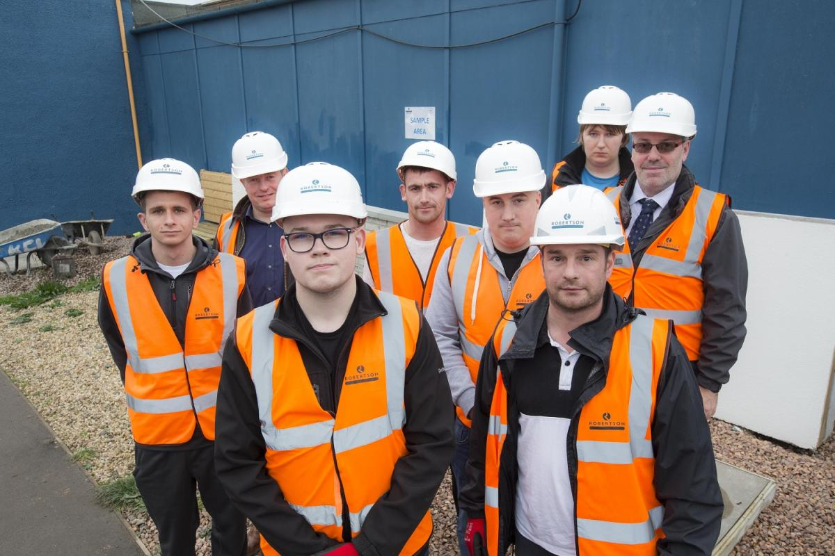 JCP clients are joined by JCP, Robertson and CITB employees