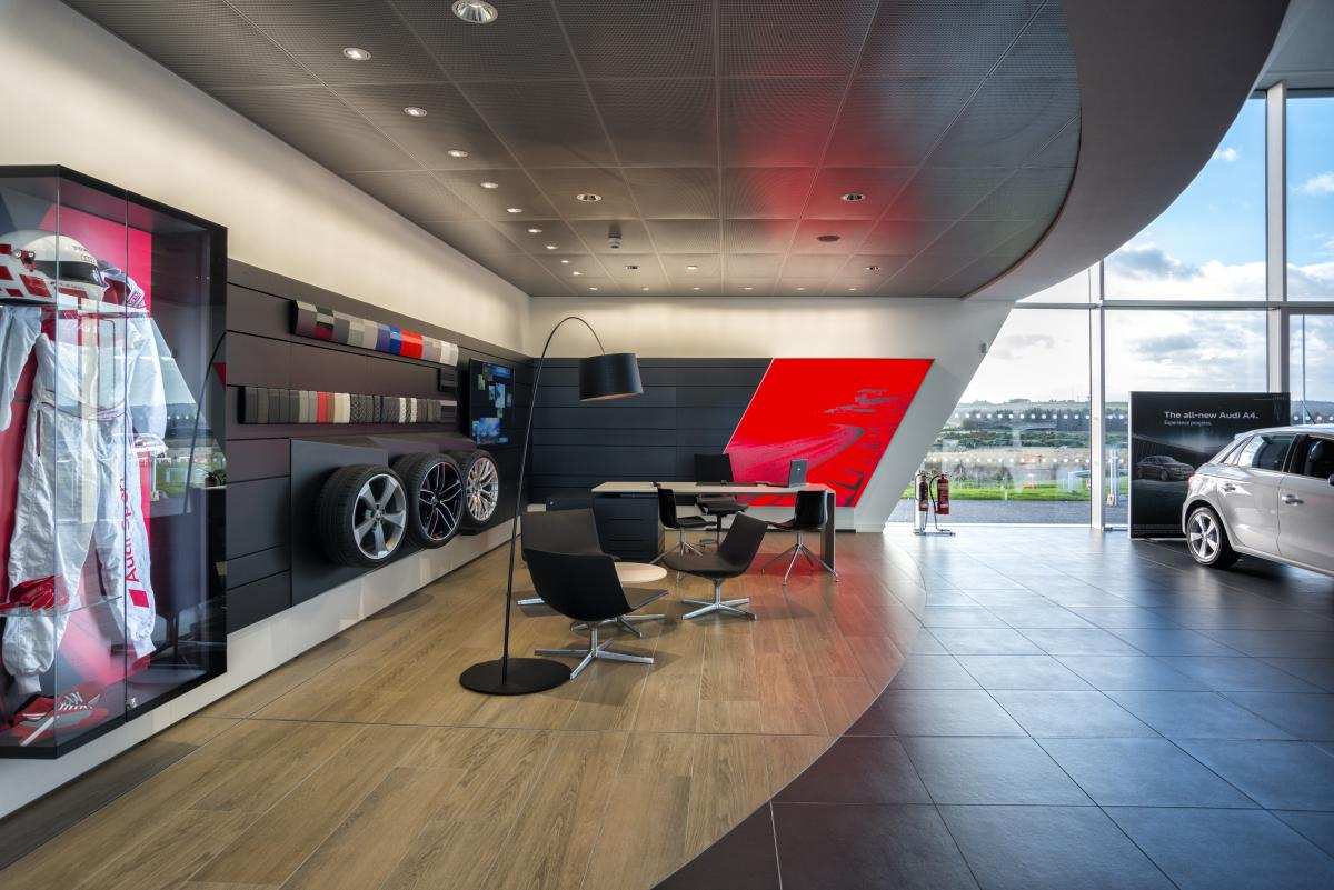 Audi dealership, Aberdeen sales area