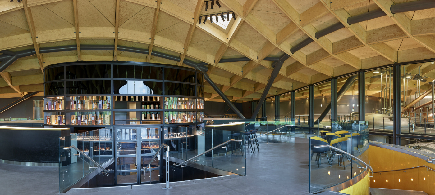 The Macallan distillery interior - bar