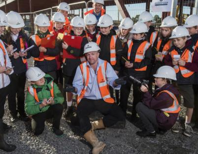 Local pupils get an inside look at new B...