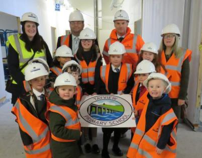 Pupils get a preview of new Tayview Prim...