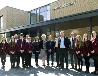 Pupils tour the new Harris Academy