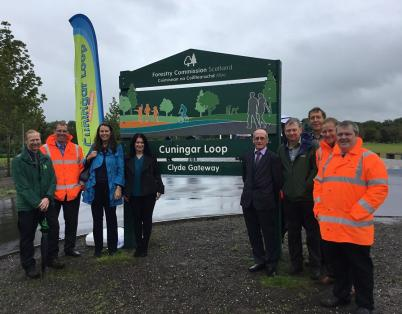 Marking the opening of green space in he...