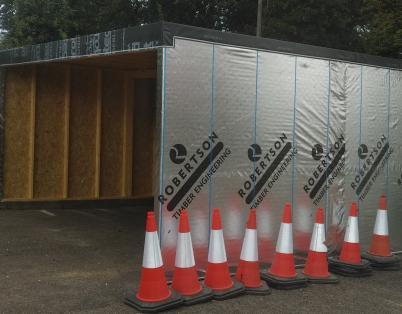 Robertson donates timber shelter to NHS ...