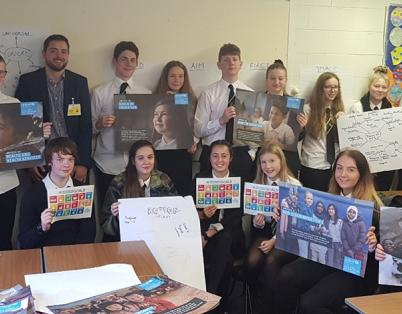 Students and business work together to d...