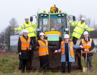 Work starts on new affordable housing de...