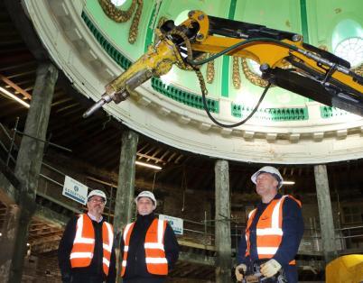 Using robots on Spanish City Dome