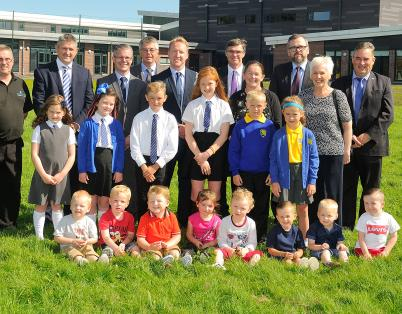 Cowie residents visit new school and nur...