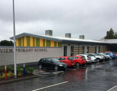 First day at brand new Tayview Primary