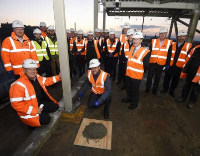 Topping out at redevelopment of key Edin...
