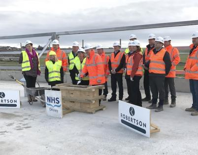 Topping out for NHS Orkney hospital